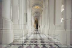 Белая колоннада в церков Стоковые Изображения RF