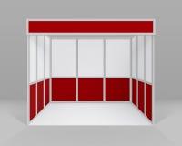 Белая красная крытая торговая стойка будочки выставки Стоковая Фотография RF