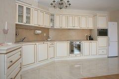 Белая кухня Стоковая Фотография