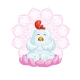 Белая мандала chickenwith Стоковая Фотография RF