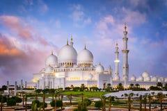 Белая мечеть стоковые изображения