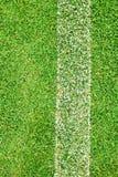 Белая нашивка на зеленой траве Стоковые Изображения RF