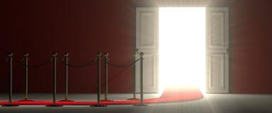 Белая открыть дверь - простой способ к успеху Стоковая Фотография