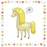 Белая лошадь бесплатная иллюстрация