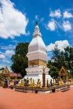 Белая пагода в Таиланде Стоковое Изображение