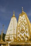 Белая пагода, золотой, белая, небо, синь, квадрат Стоковая Фотография RF