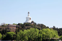 Белая пагода Стоковое Изображение RF