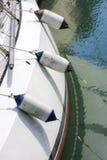 Белая палуба с обвайзерами Стоковые Фото