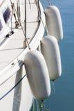 Белая палуба с обвайзерами Стоковое Изображение RF