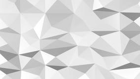 Белая полигональная геометрическая поверхностная предпосылка перевод 3d иллюстрация штока
