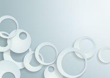Белая предпосылка вектора кругов Иллюстрация штока