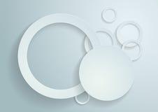 Белая предпосылка вектора кругов Бесплатная Иллюстрация