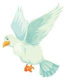 Белая птица распространяя свои крыла иллюстрация штока