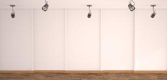 Белая пустая галерея Стоковые Изображения RF