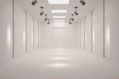 Белая пустая галерея Стоковое Изображение