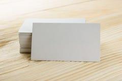 Белая пустая карточка делового визита, подарок, билет, пропуск, присутствующий clo Стоковые Фотографии RF