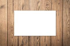 Белая пустая карточка имени Стоковые Изображения