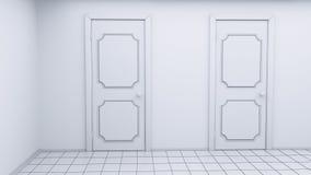 Белая пустая комната Стоковые Изображения