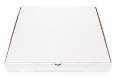 Белая пустая коробка пиццы коробки Стоковые Изображения RF