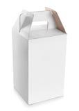 Белая пустая коробка с ручкой Стоковое фото RF