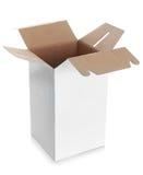 Белая пустая коробка с ручкой Стоковое Фото