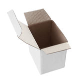 Белая пустая коробка Стоковая Фотография