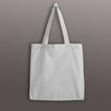 Белая пустая сумка tote eco хлопка, модель-макет дизайна Стоковое фото RF