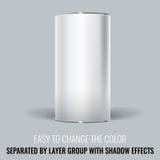 Белая пустая упаковка Tincan Дизайн насмешки вектора поднимающий вверх бесплатная иллюстрация