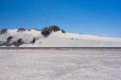 Белая пустыня песка Стоковое Изображение RF