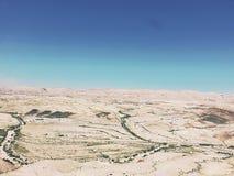 Белая пустыня под голубым небом Стоковая Фотография RF