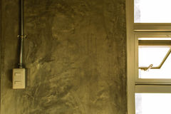 Белая пластичная панель переключателя на стене стиля просторной квартиры Стоковое Изображение