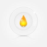 Белая плита и желтое падение Стоковые Фото