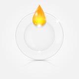 Белая плита и желтое падение Стоковое Изображение RF