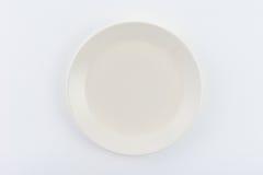 Белая плита на белой предпосылке Стоковые Изображения RF