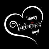 Белая рамка в форме сердца с любящим сообщением изолировала o Стоковая Фотография RF