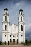 Белая римско-католическая церковь Стоковое Фото