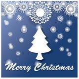 Белая рождественская елка Иллюстрация вектора