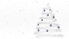 Белая рождественская елка Стоковое Изображение RF