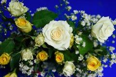 Белая роза для украшает партию Стоковое фото RF