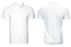 Белая рубашка поло, одежды Стоковое Изображение RF