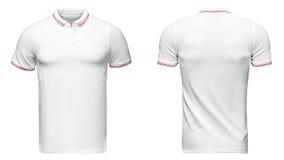 Белая рубашка поло, одежды стоковые изображения rf