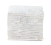 Белая салфетка квадратного бара Стоковая Фотография