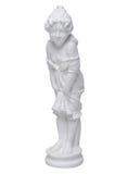 Белая скульптура гипсолита усмехаясь девушки Стоковая Фотография