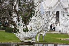 Белая скульптура Стоковая Фотография RF