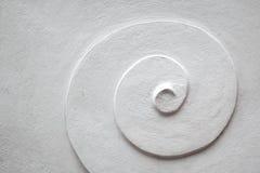 Белая спиральная картина цемента Стоковое Изображение