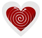 Винтовая линия в сердце Стоковое Изображение