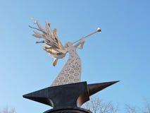 Белая статуя ангела Стоковое Изображение