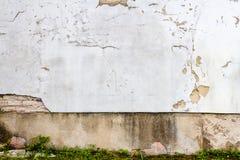 Белая стена гипсолита Стоковая Фотография