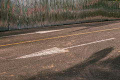 Белая стрелка Стоковые Изображения RF
