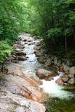 Белая сцена реки горы Стоковая Фотография